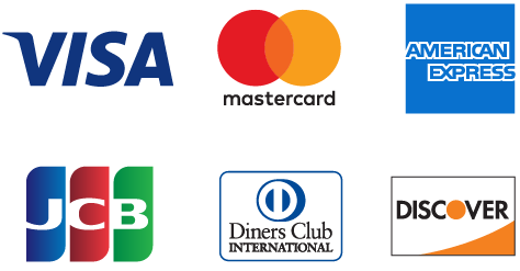 VISA、Master、American Express、Diners Club、DISCOVER